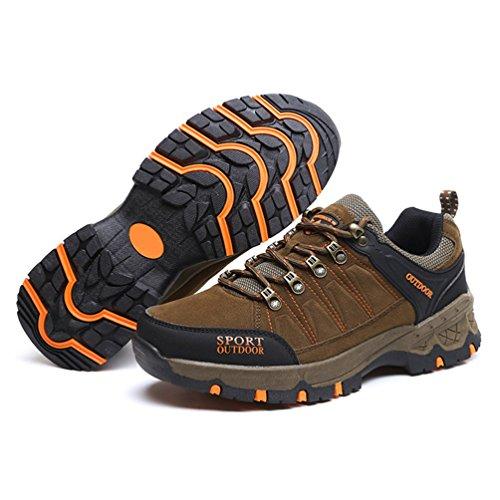 marrón adulto botas caño XIGUAFR de Unisex bajo wZHU1q