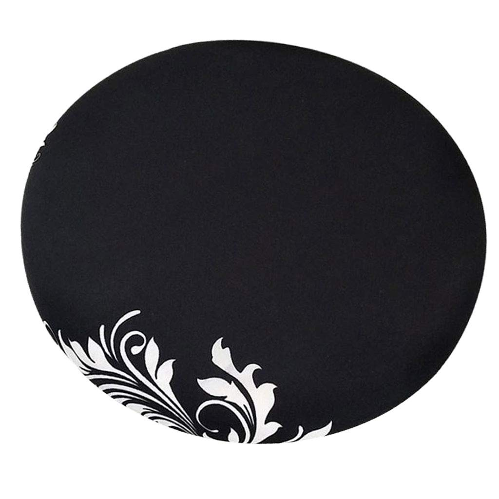 Fityle Elegant Removable Bar Stool Replacement Cover Round Chair Seat Cover Protector Desk Salon Sleeve - Style_8