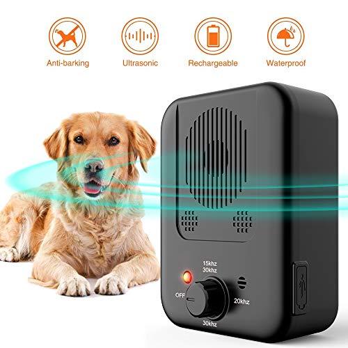 【2020 Upgrade】Anti Barking Control Device, Ultrasonic Dog Bark Deterrent Dog Behavior Training Tool with 3 Frequency…
