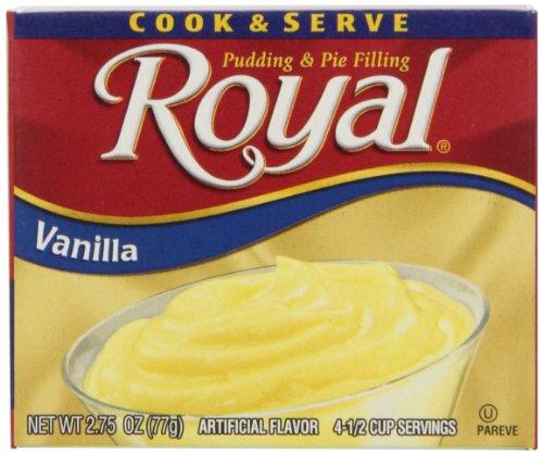 (Royal Cook & Serve Instant Pudding Dessert Mix, Vanilla, Fat Free (12 - 2.75 oz Boxes))