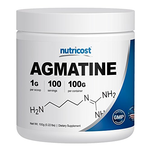 Nutricost Agmatine [100 GMS] - Pure Agmatine 100 Servings (Agmatine Sulfate) - Finest Quality
