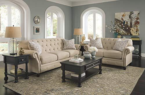 Farmhouse Living Room Furniture Ashley Furniture Kieran Loveseat in Natural farmhouse sofas and couches
