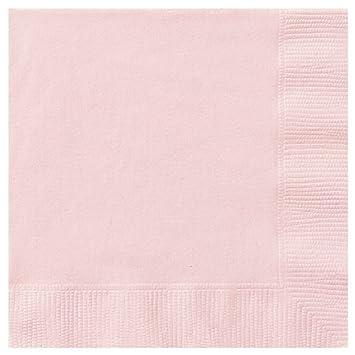 Serviettes 2-Ply 33x33cm 20/Pk - Baby Pink Unique 3142