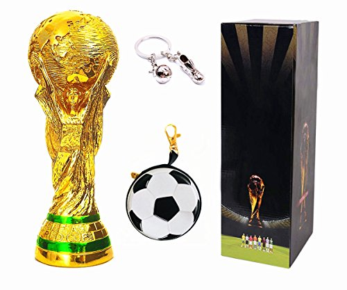 d Cup Trophy Replica Soccer Fans Souvenir with Color Box - 14 Inch Tall ()
