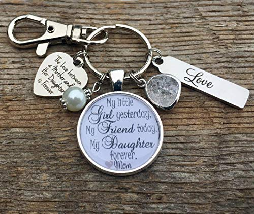 Bride gift, Bridal bouquet charm, daughter gift, bridal shower gift, wedding bouquet charm, bride to be, engagement, i do, walking down the aisle, daughter wedding ()