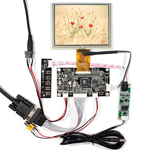 NJYTouch VGA AV LCD Controller Board Kit With 5inch ZJ050NA 08C 640x480 LCD Screen With 5