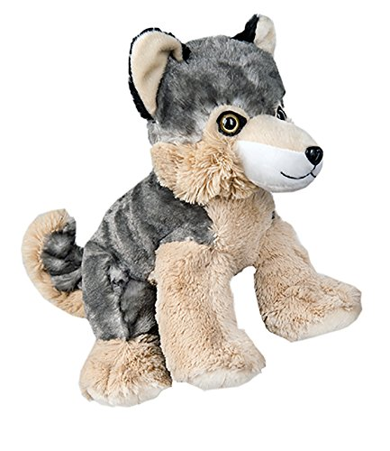 Stuffems Toy Shop Record Your Own Plush 16 inch the Wolf - Ready To Love In A Few Easy Steps,Gray, White, Brown,