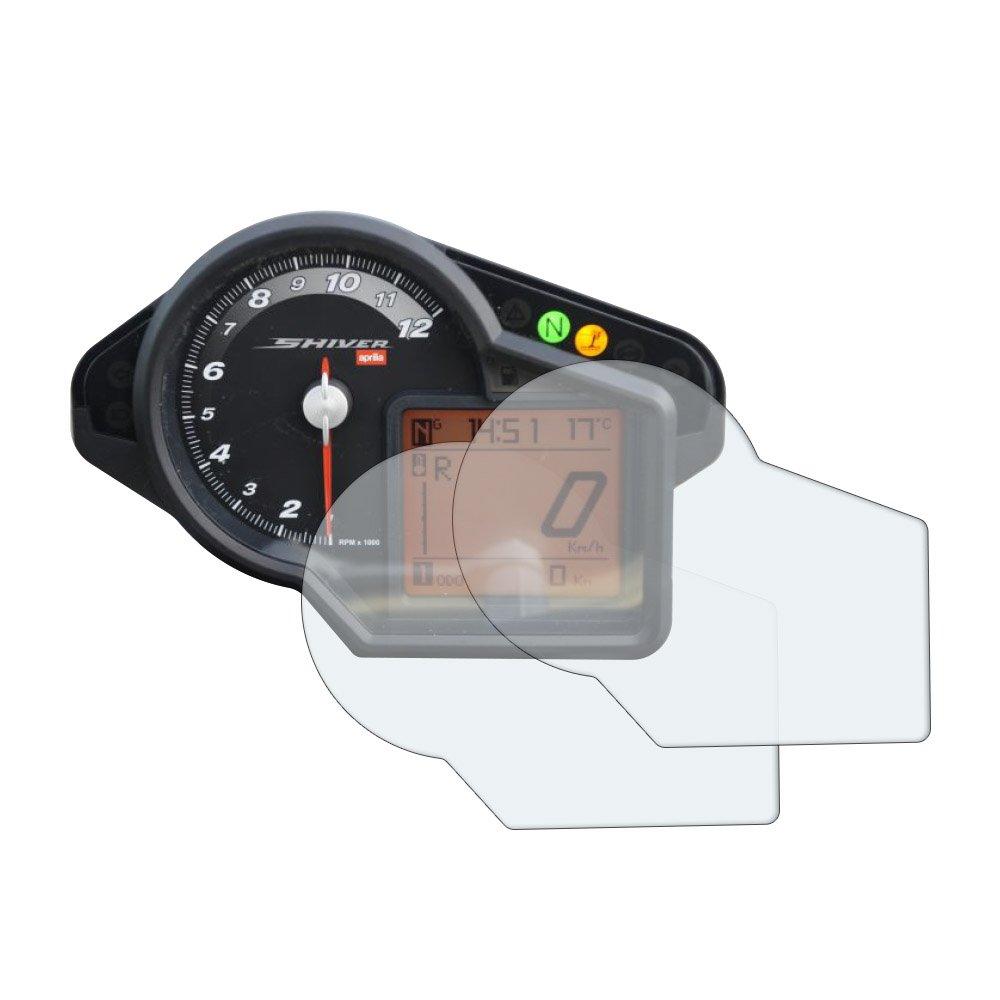 2 x Ultra-Clear Aprilia Shiver 750 Dashboard Screen Protectors