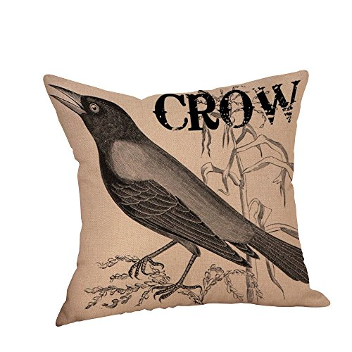 CHIDY Halloween Pillow Throw Cushion Cover Cases Crow