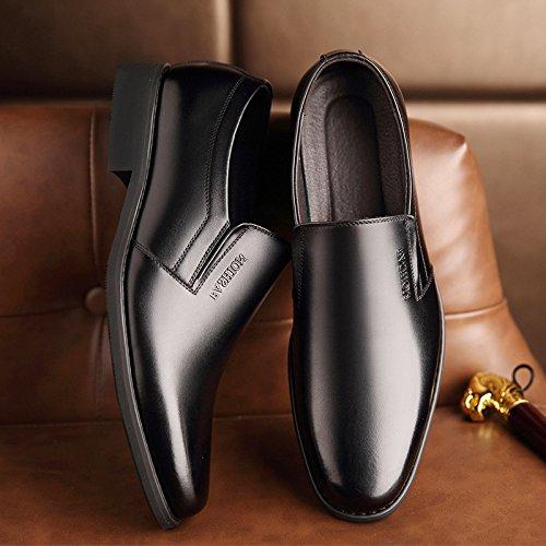 Respirantes pour Chaussures Black en Classiques Chaussures Habillées Simples ZFNYY Cuir Hommes w7qzTn4n