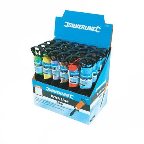 Silverline 633541 Boî te de 24 cordeaux de maç on 30 m