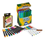 Crayola 58-6565 100 Count Super Tips Washable Markers with 12 Count, Adult Coloring, Stocking Stuffers, Gift
