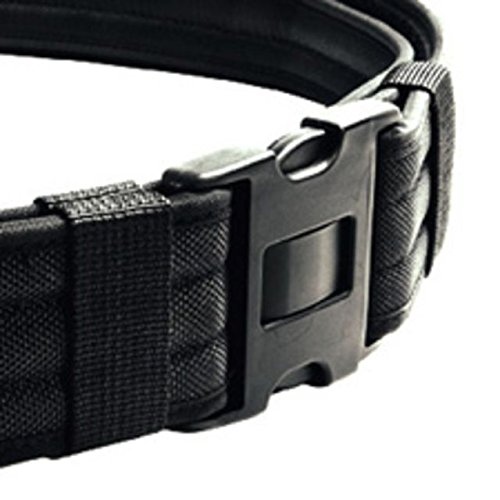 (Heros Pride Replacement Buckle System For 2-1/4in Duty Belt, Triple Lock, Black)