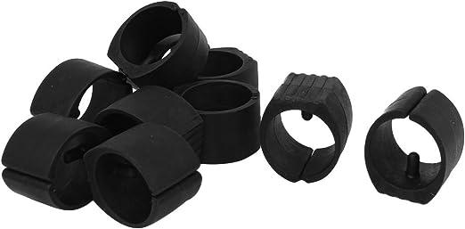 uxcell 10 Pcs Breuer Chair Foot Floor Glides Single Prong U-Shape Caps 24mm Dia