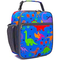 Kids Lunch box Insulated Soft Bag Mini Cooler Back to School Thermal Meal Tote Kit for Girls, Boys by FlowFly,