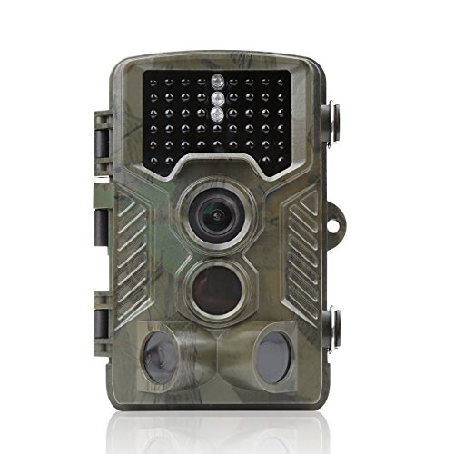 [Distianert Trail Camera 16MP 1080P Wildlife Game Camera Low Glow Black Infrared Scouting Camera Deer Camera 80 Foot Detection Range for Wildlife Monitoring and Home Security] (Black Infrared Range)