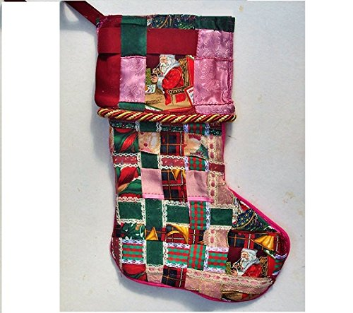 vintage christmas stocking handmade from vintage ribbons by emenow for your victorian christmas one of - Vintage Christmas Stockings