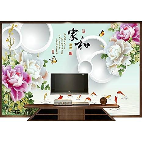 Prodotti personalizzati cinese sfondo tv arte parete 3D ...