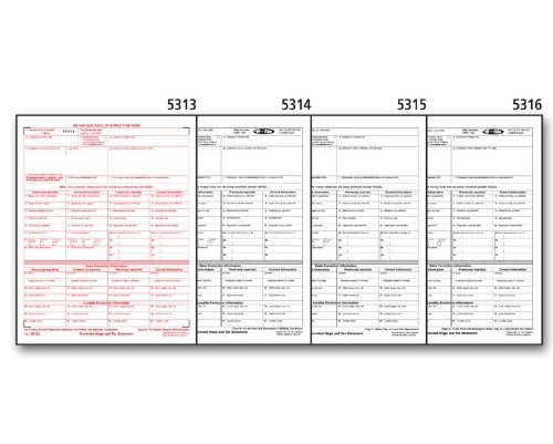 EGP IRS Approved W-2C 4-part Wage Statement - 50 Form Set