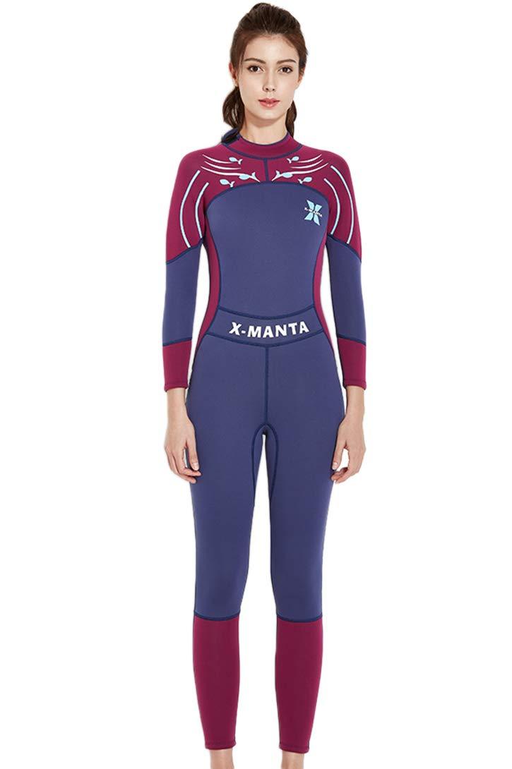 3834441282 Micosuza Women Wetsuits 3mm Neoprene Sun Protection Full Body ...