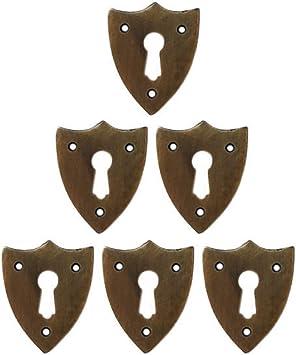 Antique style shield white furniture box escutcheon keyhole key hole