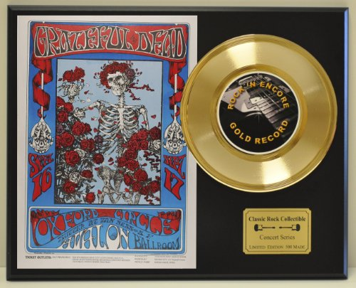 Grateful Dead LTD Edition Vintage Concert Poster Gold Record