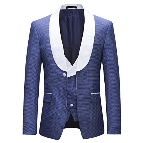 Boyland Mens Tuxedo Suits Shawl Collar Suit Jackets(Vest and Trousers Included) from Boyland