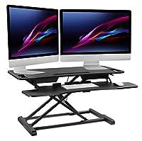 Mount-It! Mobile Stand Up Desk/Height Adjustable Computer Work Station Rolling Presentation Cart (MI-7940)
