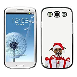 YOYO Slim PC / Aluminium Case Cover Armor Shell Portection //Christmas Holiday Cute Holiday Dog Puppy 1176 //Samsung Galaxy S3