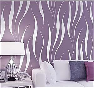 Hanmero murales de pared papel pintado rayas extra grueso for Papel pintado grueso