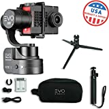 EVO SS 3 Axis Wearable Gimbal - Stabilizer for GoPro Hero4, Hero5, Hero6 Black, Yi 4K+, Garmin Virb Ultra 30 - 1 Year USA Warranty | Bundle Includes: EVO SS Gimbal + EVO GS-75 Tripod