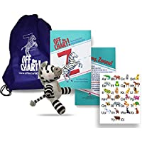 Off The Chart!: The Amazing Story Of The Alphabet Zebra - Hardcover with 32 Pages - Fiction Storybook Kit for Ages 4 to 8 - Kit Includes Zebra Plush Toy, String Backpack, Alphabet Chart & Instruction