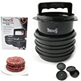 Hamburger Patty Maker Burger Press Meat Mold Machine Kitchen + 3 Containers New