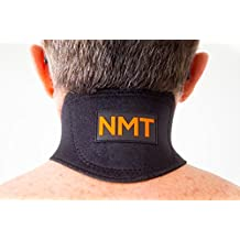 NMT Neck Brace ~ Pain Relief, Headaches ~ Natural Physical Therapy ~ New Black Healing Wrap for Men and Women ~ Tourmaline Remedy ~ Portable Cervical Collar