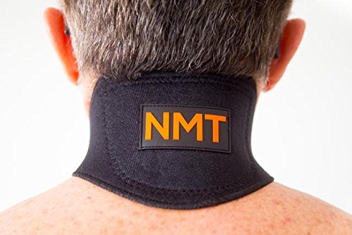 """NMT Neck Brace"" ~ Neck Pain, Headache Relief ~ Physical Therapy ~ Tourmaline Remedy for Stiff Neck ~ Cervical Collar, Adjustable ~ New Black Natural Healing Device for Men & Women."
