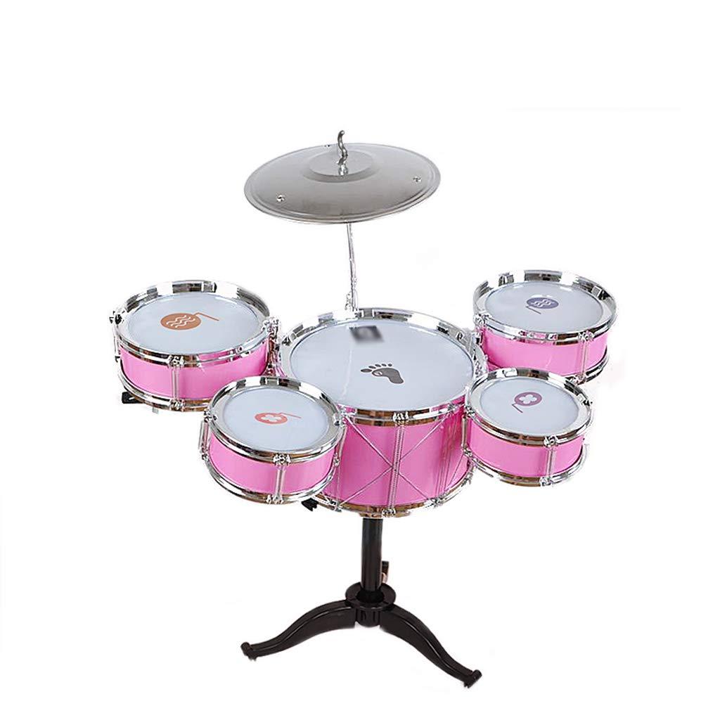 【史上最も激安】 DUWEN 子供のドラム3-6歳初心者ドラムセットドラムスティックミュージカルおもちゃ楽器スツール付き Pink) (色 B07KWR1HKR : Pink) (色 Pink B07KWR1HKR, 葛城市:eac8f7fb --- a0267596.xsph.ru