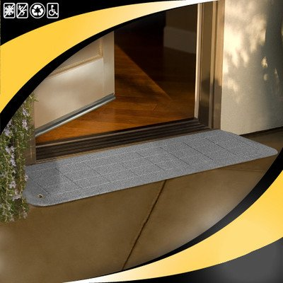 Safepath Products ADA Ramp, 1-1/8In.H, 12-1/4In.L, 42In.W, Gr by Safepath Products