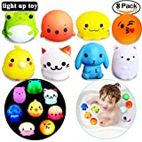 Best Bathtub Toy With Balls - HLXY Light-up Toys for Kids 8 Pack Light Review