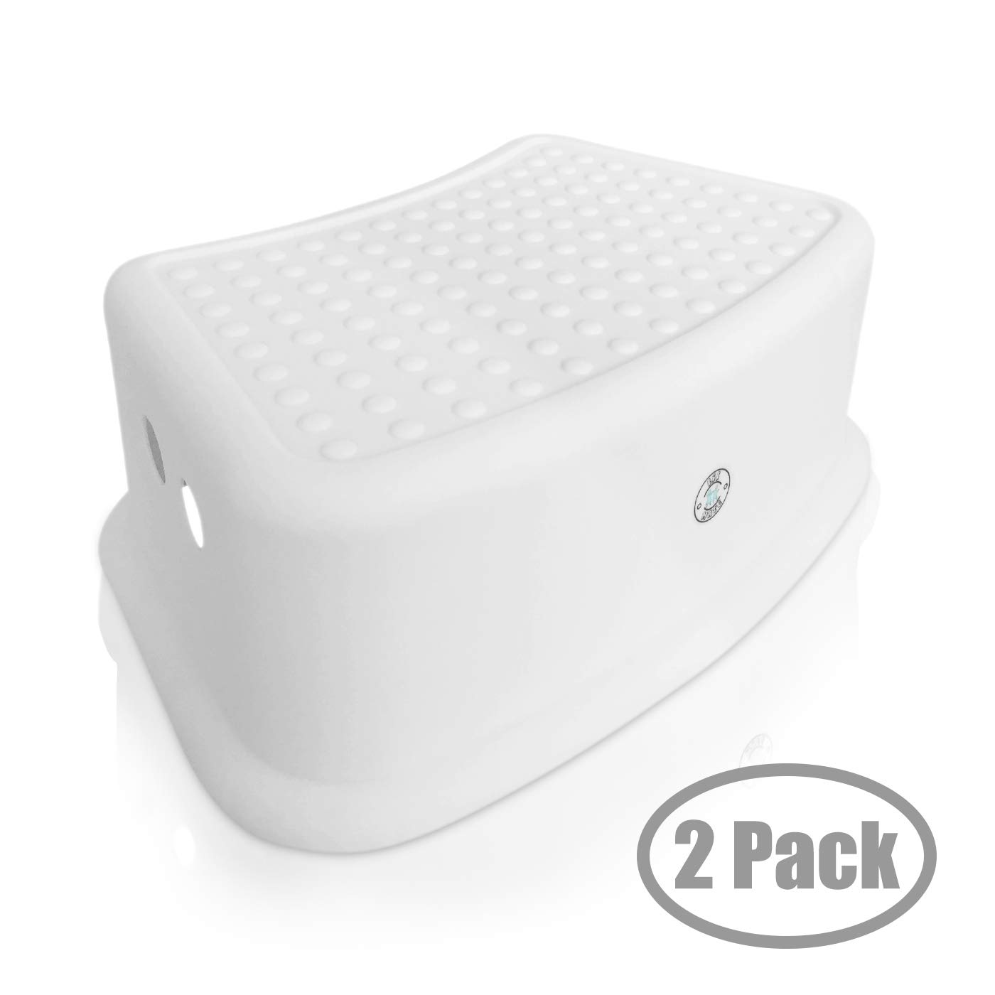 Step Stool for Kids - Toddlers Potty and Toilet Training Stepping Stool - Use in Bathroom, Sink, Bedroom, Toy Room, Kitchen, and Living Room - White (2 Pack) by Lil Mate