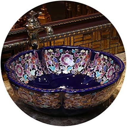 浴室設備アクセサリ 船のシンク アートカウンター盆地セラミック バスルームオーバルコンテナシンク カウンターキッチンシンク (Color : Sink*1+Faucet*1, Size : 40*15cm)