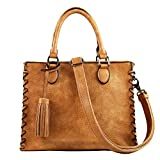Concealed Carry Purse - YKK Locking Laced Ann Concealed Weapon Satchel by Lady Conceal (Cinnamon)