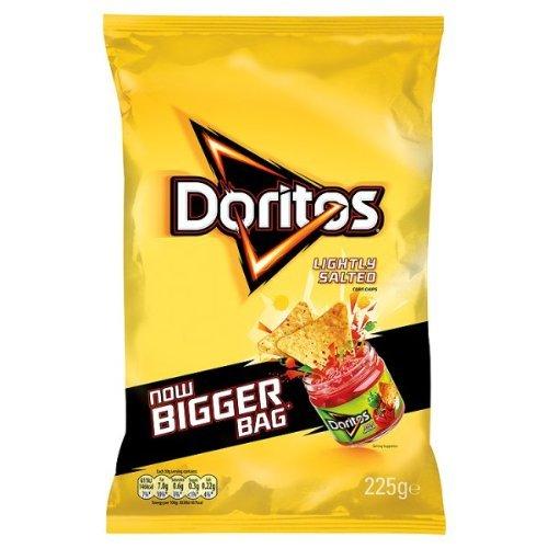 Doritos Lightly Salted Corn Crisps 225G (Pack Of 12) by Doritos (Image #1)