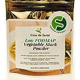 Casa de Sante Low FODMAP Vegetable Stock Powder - No Onion No Garlic, Artisan Boullion, Broth, Seasoning, Gluten Free, MSG Free, 3 Pack