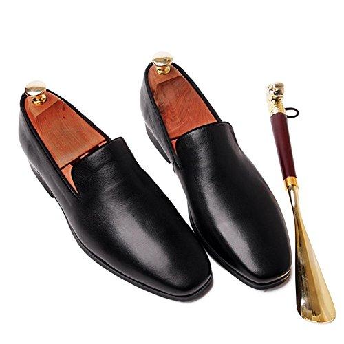 XIE Uomini Nozze bianca Scarpe Oxford Pelle Scivolare su Piazza Dito del piede Formale Attivit