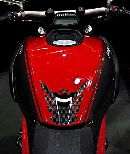 Kit Autocollant en Gel 3D Protection Du R/éservoir Compatible Moto Ducati Diavel