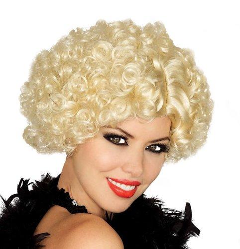 Forum Novelties Women's Short Curly Flapper Costume Wig, Blonde, One Size (Effie Trinket Wig)