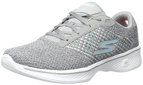 Skechers Women's GOwalk 4 Exceed Walking Shoe,Gray,US 9.5 W Go Walk 4 Exceed Wide