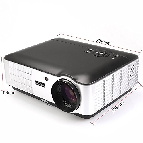 Flylinktech rd 806 2800 lumens movie projector video led for Small tv projector