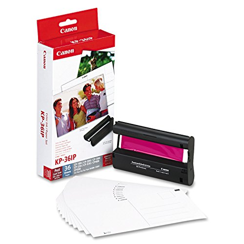 Canon 7737A001 (KP-36IP) Color Ink & Paper Set, Tri-Color in Retail Packaging