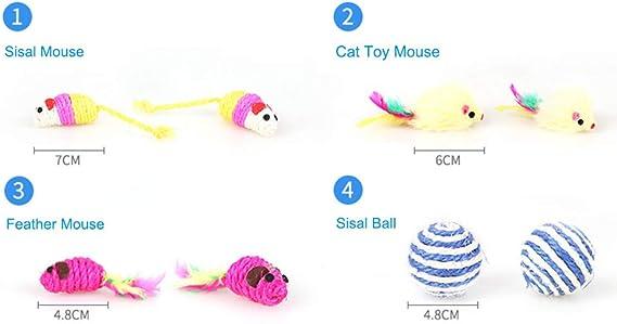 Smoro 12 Cat Toys Kitten Toys Assortments, Cat Feather